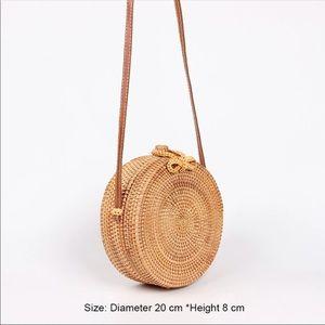 Handbags - Boho Rattan bag bamboo purse NEED GONE